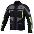 Geaca moto SM Racewear Highland black / gray / fluo