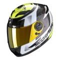 Casca moto integrala Scorpion Exo 490 Tour negru/alb/galben
