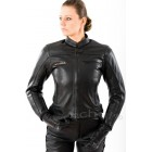 Motorcycle leather jacket Tschul New Jersey black